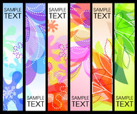 Set of vector vertical banners. Set of bright vector vertical banners Royalty Free Stock Photo