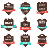 Set of vector vintage badges. Sale, premium quality, best choice Stock Images
