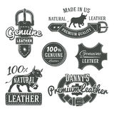 Set of vector vintage belt logo designs, retro Royalty Free Stock Photo