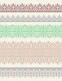 Set of vector vintage borders. Stock Image