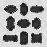 Set of vector vintage chalkboard tags Stock Photography