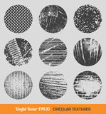 Set of vector vintage circular textures Royalty Free Stock Photos