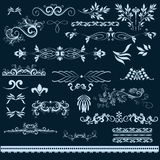 Set of vector vintage flourishes Royalty Free Stock Image
