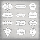 Set of vector vintage frames Royalty Free Stock Photos