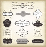 Set of vector vintage frames Stock Photos