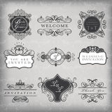 Set of vector vintage frames Royalty Free Stock Image