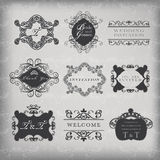 Set of vector vintage frames Royalty Free Stock Photography