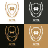 Set of vector vintage logo design template. Royalty Free Stock Image