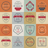 Set Vector Vintage Sign and Logos Scooter Stock Images
