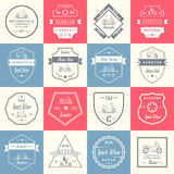 Set Vector Vintage Sign and Logos Scooter Royalty Free Stock Photo