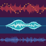 Set of vector volume waves Stock Photos