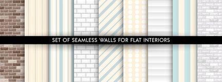 Set of vector walls pattern royalty free illustration