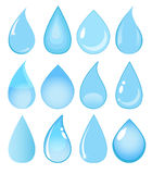 Set of vector water drops Royalty Free Stock Photos
