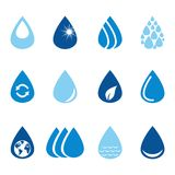 Set of vector water drops Stock Photography
