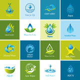 Set of vector Water icons Royalty Free Stock Photo