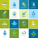 Set of vector Water icons 1. Royalty Free Stock Images