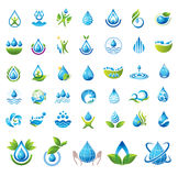 Set of vector Water icons. Royalty Free Stock Photos