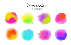 Set of Vector Watercolor backgrounds 1 Stock Photos