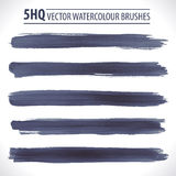 Set of vector watercolor brushes Royalty Free Stock Photography