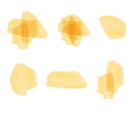 Set of VECTOR watercolor elements. Yellow. Stock Photography