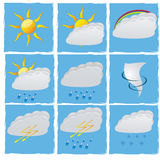 Set vector weather Royalty Free Stock Image