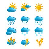 Set vector weather icons Royalty Free Stock Image