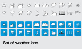 Set of vector weather icons for web Royalty Free Stock Photography