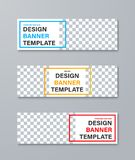 Set of vector web banners with place for photo and color frames for text. Design templates in standard size royalty free illustration