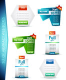 Set of vector web boxes Stock Photo