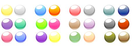 Set of vector web buttons Stock Photos