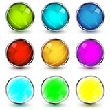 Set of vector web buttons Royalty Free Stock Photos