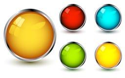 Set of vector web buttons Royalty Free Stock Photos