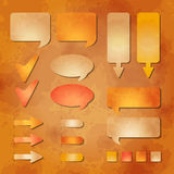 Set of vector web design elements Royalty Free Stock Photos