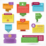 Set of vector web elements. Labels, tags, banners. Set of modern colorful vector web elements. Labels, tags, banners. Origami style Stock Image