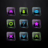 Set of vector web icons vector illustration