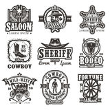 Set of vector wild west logos Stock Image