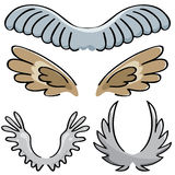 Set of vector wings Stock Photo