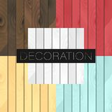 Set of 5 vector wood realistic textures colors royalty free illustration