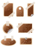 Set of vector wooden  stickers Stock Photography