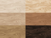 Set of vector wooden textures. Royalty Free Stock Photo