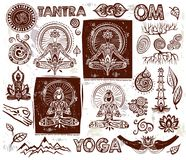 Set Vector Yoga elements Royalty Free Stock Photos