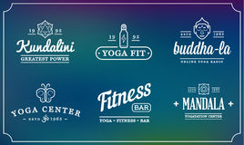 Set of Vector Yoga Zen Sport Elements and Fitness Healthy Illust Royalty Free Stock Image