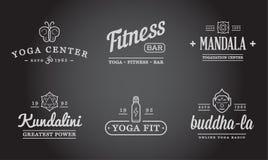 Set of Vector Yoga Zen Sport Elements Stock Photos