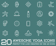 Set of Vector Yoga Zen Sport Elements. And Fitness Healthy Illustration can be used as Logo or Icon in premium quality Stock Image