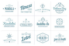 Set of Vector Yoga Zen Sport Elements. And Fitness Healthy Illustration can be used as Logo or Icon in premium quality Royalty Free Stock Photo
