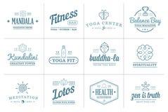 Set of Vector Yoga Zen Sport Elements Royalty Free Stock Photo