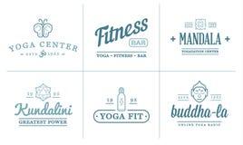 Set of Vector Yoga Zen Sport Elements Stock Photography
