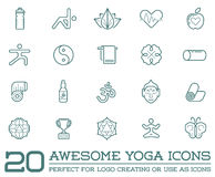 Set of Vector Yoga Zen Sport Elements Royalty Free Stock Image