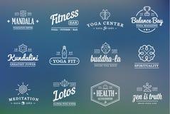 Set of Vector Yoga Zen Sport Elements Royalty Free Stock Photography