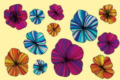 Set of Vectorized Flowers Royalty Free Stock Photos